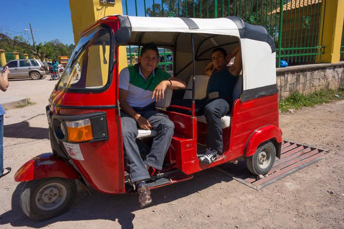 moto taxis en Honduras